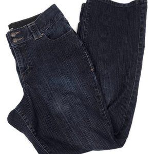 LANE BRYANT Tighter Tech. Boot Cut Blue Jeans